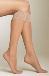Women's Spanx Sheer Knee Highs Beige 2 Pack Nude