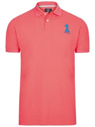 Hackett London New Classic Number Polo Shirt Coral