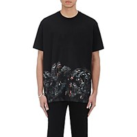 Givenchy Men's Monkey Graphic T Shirt Black Blue Black Blue