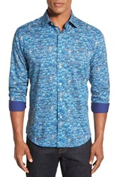 Men's Bugatchi Classic Fit Long Sleeve Graphic Print Sport Shirt