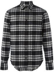 Dsquared2 Cropped Outside Flannel Shirt Black
