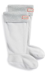 Hunter Women's Original Tall Glitter Cuff Welly Boot Socks Dove Grey