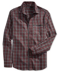 Sean John Men's Check Shirt Black