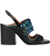 Dries Van Noten Sequin Band Sandals Black Comb