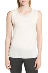 Boss Istora Stretch Silk Top Vanilla Light