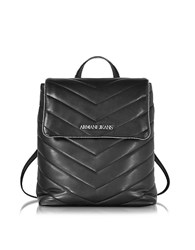 Armani Jeans Black Quilted Eco Leather Backpack