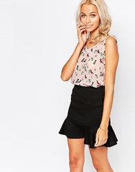 Jasmine Top With Lace Back In Dog Print Pink