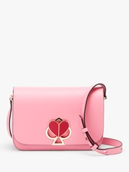 Kate Spade New York Nicola Leather Twistlock Flap Over Medium Shoulder Bag Rococo Pink