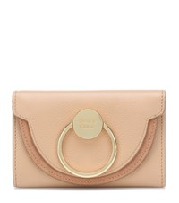 See By Chloe Embellished Leather Wallet Beige