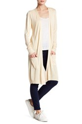 Joseph A Long Pocket Duster Cardigan Beige