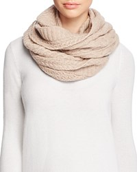Bloomingdale's C By Cable Knit Loop Scarf Oatmeal