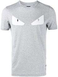 Fendi Bag Bugs T Shirt Grey