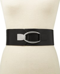 Inc International Concepts Interlocking Hook Stretch Belt Created For Macy's Black