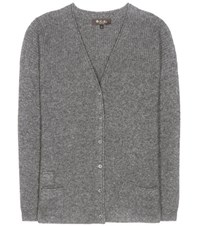 Loro Piana Shepherd Bay Cashmere And Silk Cardigan Grey