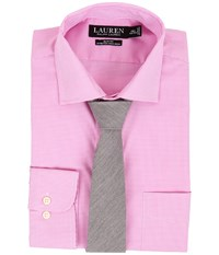 Lauren Ralph Lauren Stretch Gingham Slim Estate Pocket Shirt Pale Pink White Men's Long Sleeve Button Up