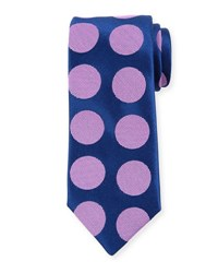 Charvet Exploded Dot Silk Tie Blue