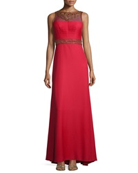 Sue Wong Sleeveless Embroidered And Sequined Gown