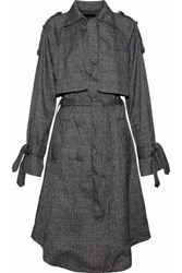 W118 By Walter Baker Neilson Prince Of Wales Layered Woven Trench Coat Dark Gray
