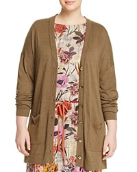 Marina Rinaldi Madre Long Cardigan Stone Brown