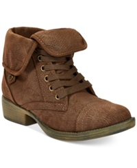 Rocket Dog Taylor Foldover Booties Women's Shoes Brown Brave