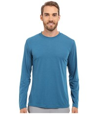 Brooks Distance Long Sleeve Top Heather River Men's Long Sleeve Pullover Blue