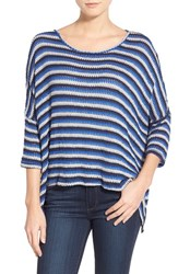 Women's Sanctuary 'Lucy' Stripe Mixed Media Pullover