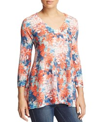 Nally And Millie Abstract Floral Print Tunic 100 Bloomingdale's Exclusive Orange