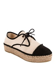 Andre Assous Charlie Espadrille Sneakers Black White