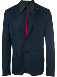 Msgm Two Button Blazer Blue