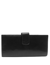 Tusk Tuscany Leather Slim Clutch Wallet Black