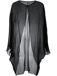 Halston Heritage Sheer Evening Jacket Black