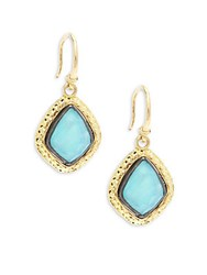 Armenta Old World Rainbow Moonstone And 18K Goldplated Sterling Silver Drop Earrings