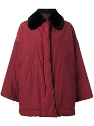 Romeo Gigli Vintage Contrast Collar Coat Red