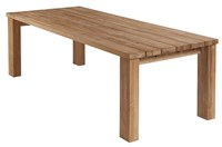Barlow Tyrie Titan Teak Rustic Table Medium Light Brown