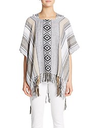 Theodora And Callum Big Sur Poncho Multicolor
