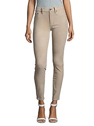 Rag And Bone Skinny Fit Leather Suede Pants Stone