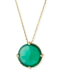 Suzanne Kalan Round Green Onyx Pendant Necklace