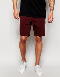 New Look Geo Print Chino Short Burgundy