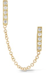 Jennifer Meyer 18 Karat Gold Diamond Earring