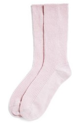 The White Company Cashmere Bed Socks Pale Pink