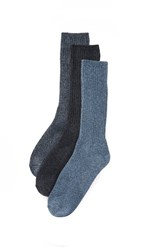 Calvin Klein Underwear 3 Pack Casual Knit Crew Socks Navy Multi