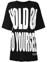 Haider Ackermann 'Hold On To Yourself' Oversize T Shirt Women Cotton S Black
