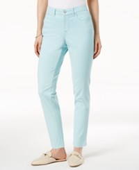 Charter Club Bristol Skinny Ankle Jeans Created For Macy's Aqua Water