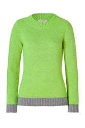Matthew Williamson Wool Cashmere Two Tone Pullover In Green