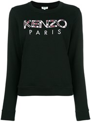 Kenzo Paris Embroidered Sweatshirt Black