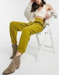 Free People Slouch Drawstring Jogger Yellow