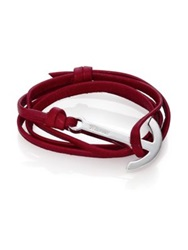 Miansai Modern Anchor Leather Wrap Bracelet Burgundy Navy Black Brown