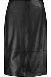 Muubaa Yates Leather Pencil Skirt Black