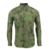 Lords Of Harlech Morris Shirt In Olive Camo Green