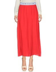 Each X Other 3 4 Length Skirts Red